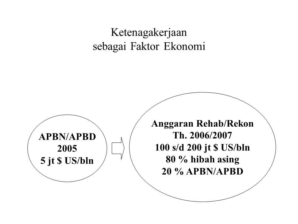 ISU-ISU KETENAGAKERJAAN DALAM REHABILITASI&REKONSTRUKSI PASCA TSUNAMI Oleh: Widodo Prayitno Perw.Depnakertrans,BRR Disampaikan di: UNIVERSITAS SYIAH KUALA Banda Aceh,30 Mei 2006