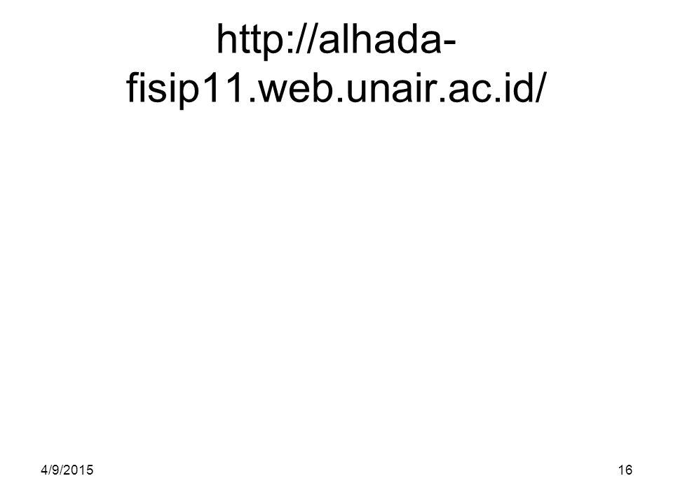 http://alhada- fisip11.web.unair.ac.id/ 4/9/201516
