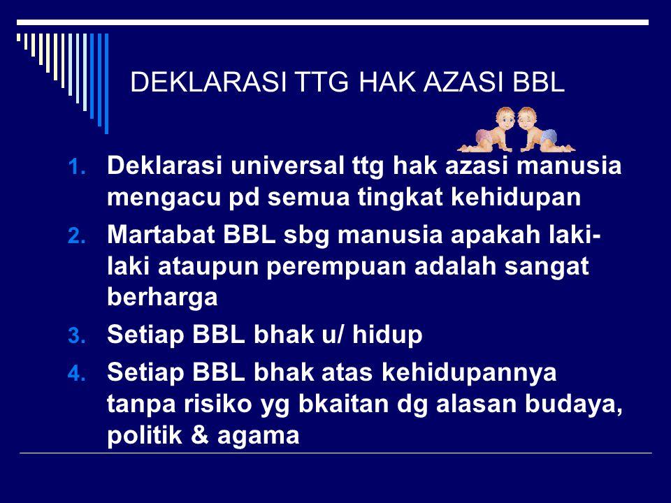 DEKLARASI TTG HAK AZASI BBL 1.