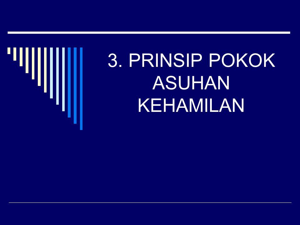 3. PRINSIP POKOK ASUHAN KEHAMILAN