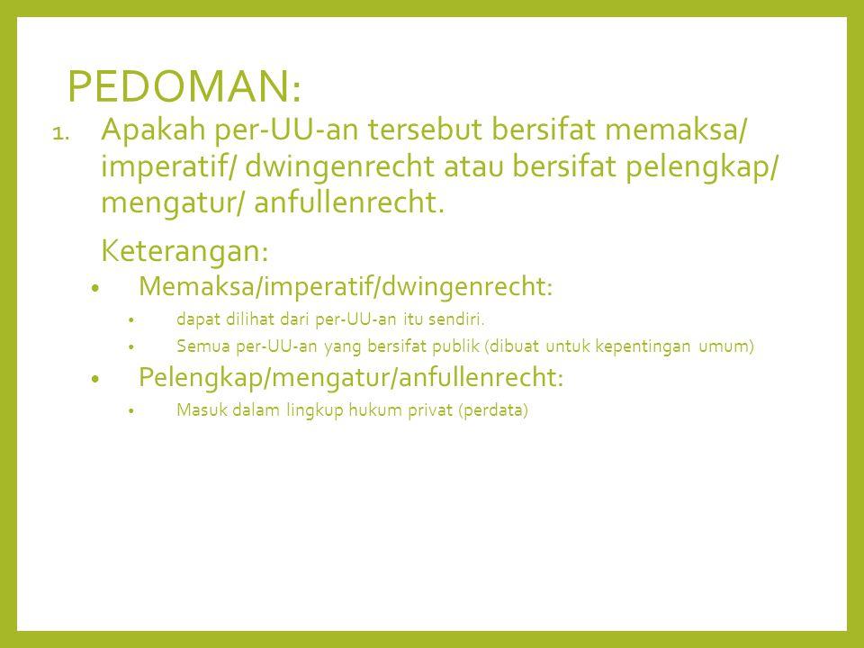 PEDOMAN: 1.
