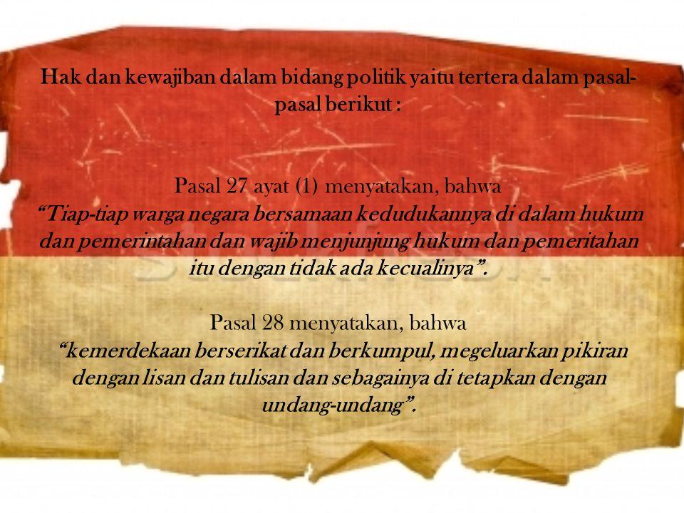 Dalam konteks sejarah dan secara konsepsional, Undang-Undang Dasar 1945 yang telah lahir sebelum DUHAM memiliki perspektif hak asasi manusia yang cuku