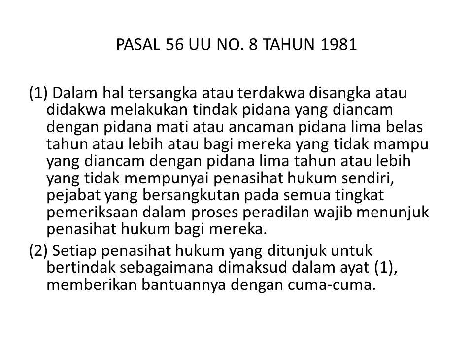 PASAL 56 UU NO.