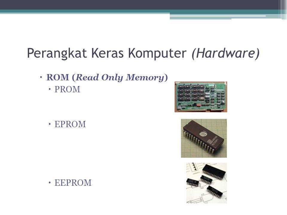 Perangkat Keras Komputer (Hardware)  ROM (Read Only Memory)  PROM  EPROM  EEPROM