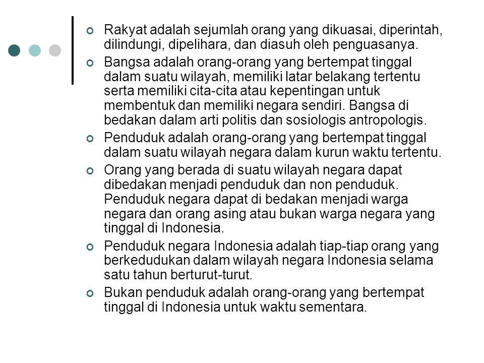 Pewarganegaraan secara sempit adalah salah satu cara memperoleh kewarganegaraan di Indonesia.