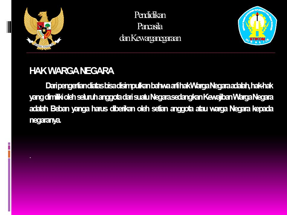Pendidikan Pancasila dan Kewarganegaraan S EJARAH HAM DIBERBAGAI NEGARA 5.
