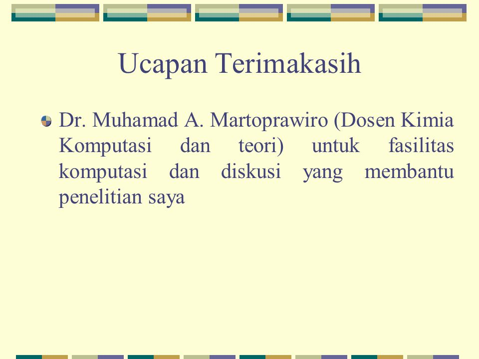 Ucapan Terimakasih Dr.Muhamad A.