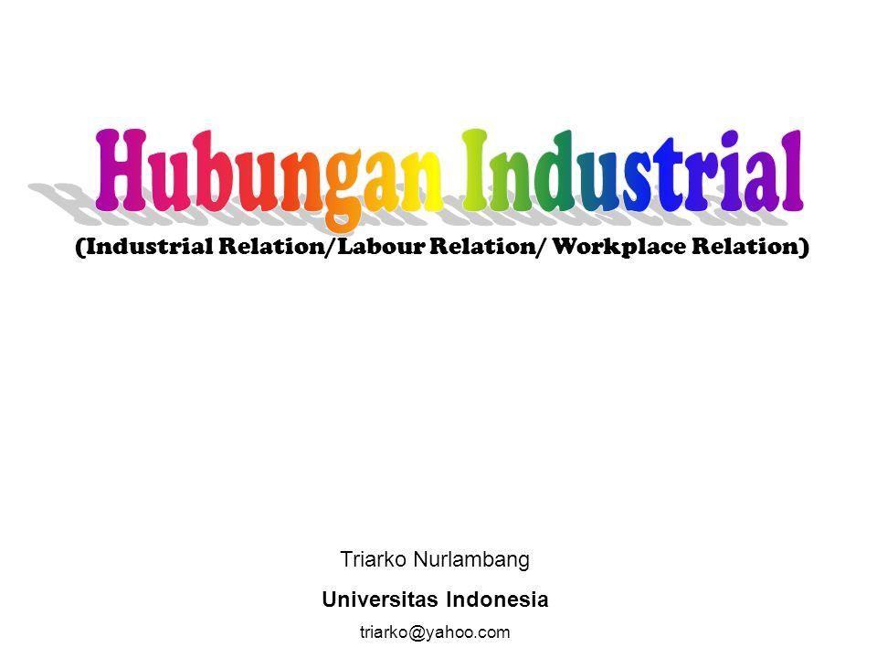 Triarko Nurlambang Universitas Indonesia triarko@yahoo.com (Industrial Relation/Labour Relation/ Workplace Relation)