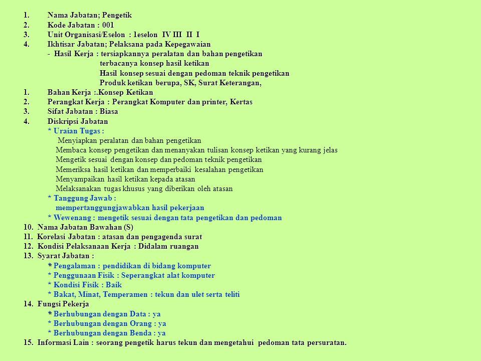 PEJABAT YANG BERWENANG : adalah pejabat yang mempunyai kewenangan mengangkat, Memindahkan dan memberhentikan Pegawai Negeri berdsrkan peraturan perundangan-undangan yg berlaku (UU No.43 Tahun 1999 Pasal 1) PEGAWAI NEGERI : adalah setiap Warga Negara Republik Indonesia yg telah memenuhi syarat yg ditentukan, diangkat oleh pejabat yg berwenang dan diserahi tugas dalam jabatan negeri, atau diserahi tugas negara lainnya, dan digaji berdasarkan peraturan perundangan yg berlaku.