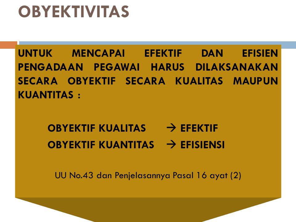 Pasal 16 ayat (2) : setiap WNRI mempunyai kesempatan yang sama untuk melamar menjadi PNS setelah memenuhi syarat-syarat yang ditentukan Penjelasannya