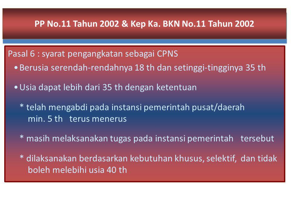 Contoh Masa kerja : Seorang CPNS mempunyai MK dari perusahaan swasta nasional 5 tahun, perusahaan swasta asing Jepang 7 tahun, perusahaan swasta asing