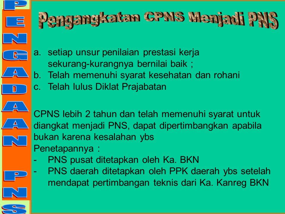 Pengangkatan CPNS 1. Pelamar wajib melengkapi kelengkapan adminitrasi (bila satu syarat tidak terpenuhi ybs tidak dapat diangkat CPNS) 2.PPK mengusulk