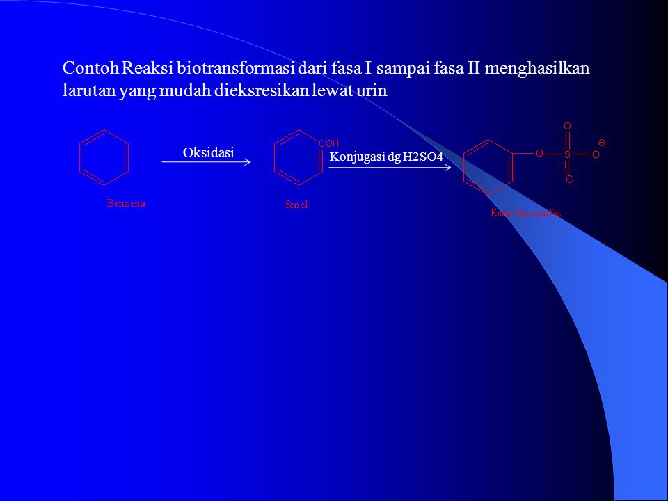 Contoh 1 : PROSES TERJADINYA PENYAKIT KANKER KARENA ETILENA EPOKSID ETILENA ( MERUPAKAN ALKILATING AGEN YANG AKAN BERIKATAN DENGAN ATOM N DARI DNA DAN DAN DISEBUT DNA ADDUCT) Contoh 1 : PROSES TERJADINYA PENYAKIT KANKER KARENA ETILENA EPOKSID ETILENA ( MERUPAKAN ALKILATING AGEN YANG AKAN BERIKATAN DENGAN ATOM N DARI DNA DAN DAN DISEBUT DNA ADDUCT) (penyakit kanker) Etilena Epoksid etilena (Oksidasi) (Senyawa pengalkilasi)