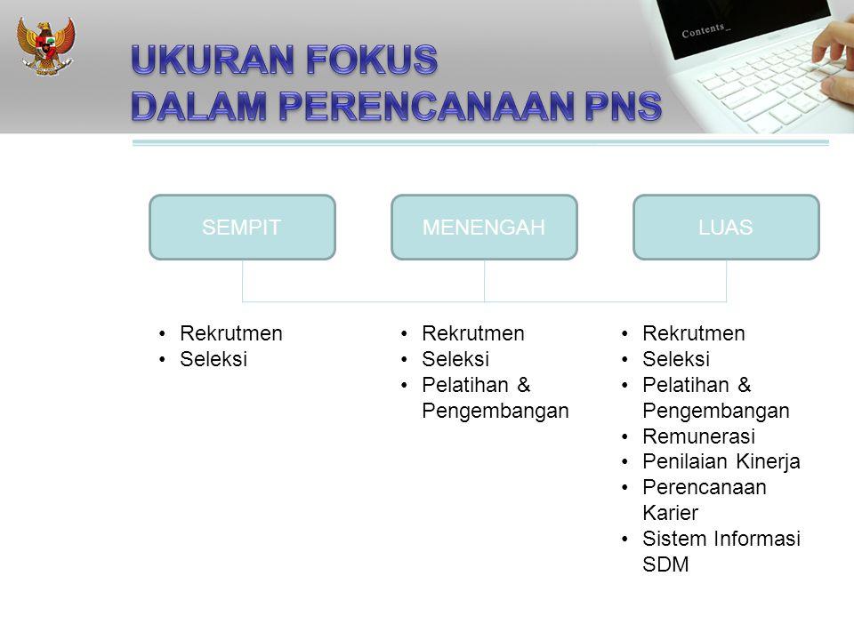 SEMPITMENENGAHLUAS Rekrutmen Seleksi Rekrutmen Seleksi Pelatihan & Pengembangan Rekrutmen Seleksi Pelatihan & Pengembangan Remunerasi Penilaian Kinerja Perencanaan Karier Sistem Informasi SDM