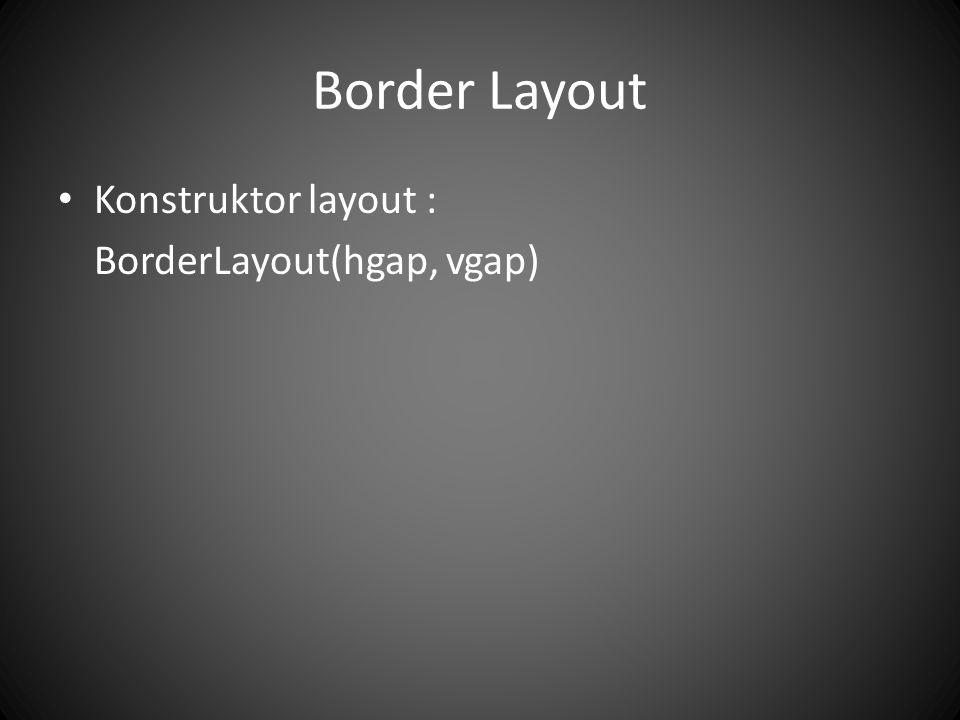 JPanel Layout management membatasi programmer dalam menata komponen Sehingga untuk tata letak yang sifatnya komplek, kita bisa memanfaatkan jpanel sebagai kontainer untuk menggabungkan beberapa layout manager