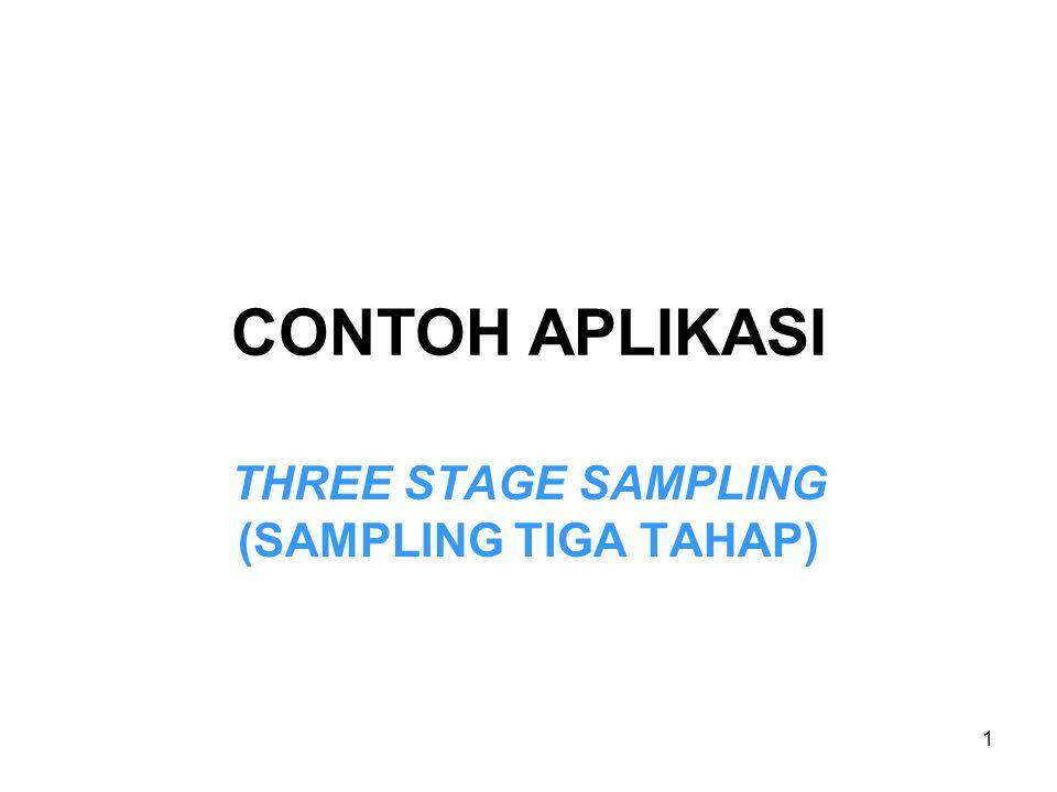 1 CONTOH APLIKASI THREE STAGE SAMPLING (SAMPLING TIGA TAHAP)