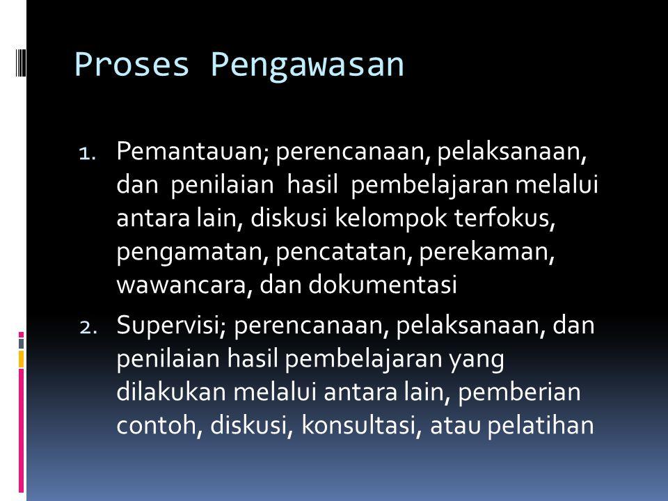 Proses Pengawasan 1.
