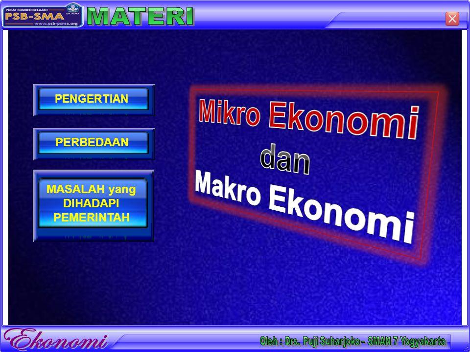 Setelah selesai mendalami materi, peserta didik diharap dapat :  Mendeskripsikan pengertian Ekonomi Mikro  Mendeskripsikan pengertian Ekonomi Makro