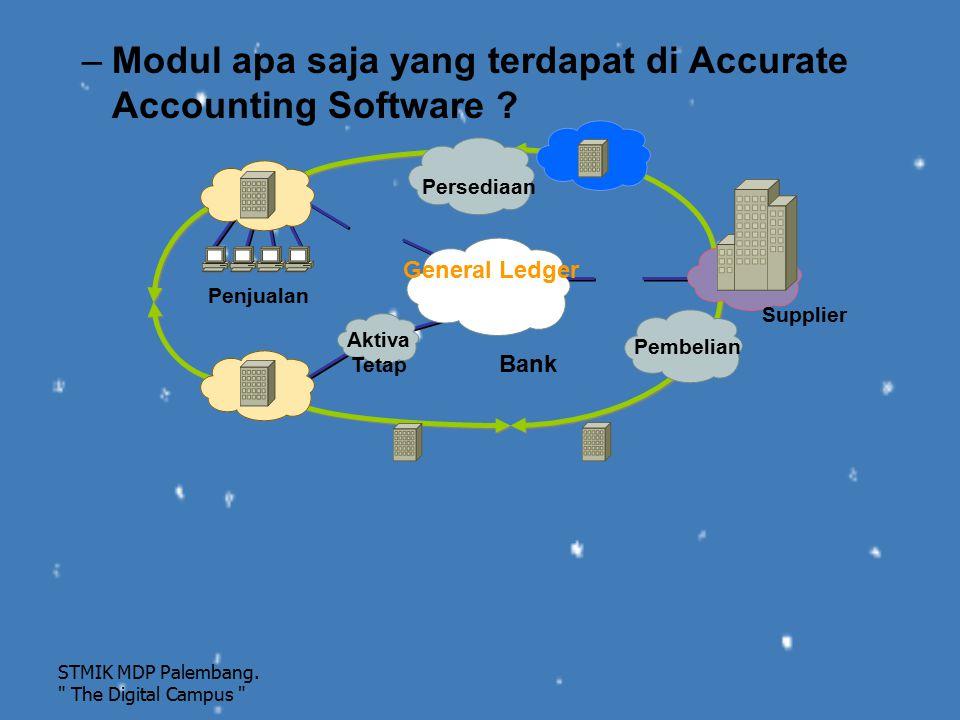 –Modul apa saja yang terdapat di Accurate Accounting Software ? STMIK MDP Palembang.