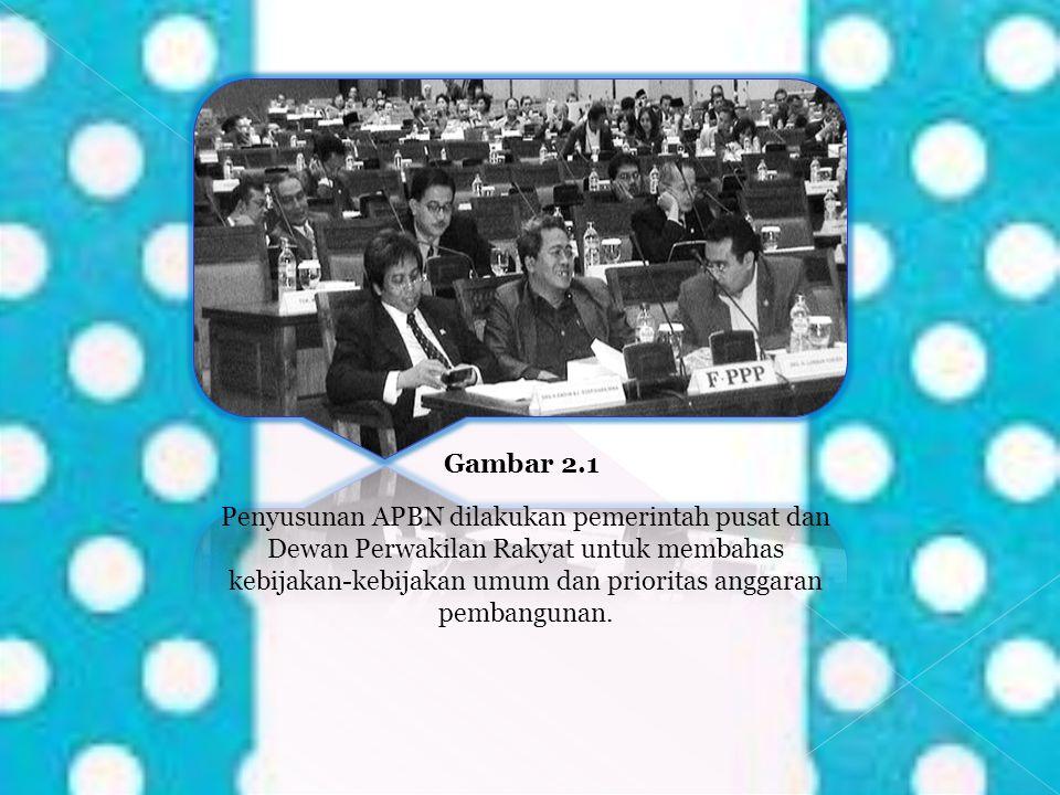 Gambar 2.1 Penyusunan APBN dilakukan pemerintah pusat dan Dewan Perwakilan Rakyat untuk membahas kebijakan-kebijakan umum dan prioritas anggaran pemba
