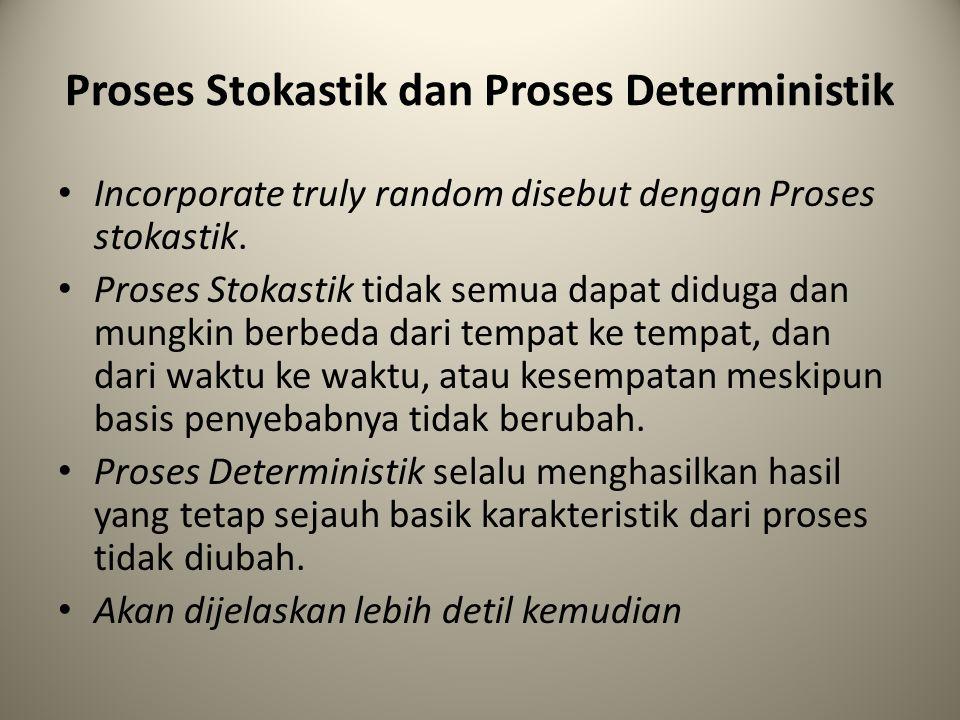 Proses Stokastik dan Proses Deterministik Incorporate truly random disebut dengan Proses stokastik. Proses Stokastik tidak semua dapat diduga dan mung