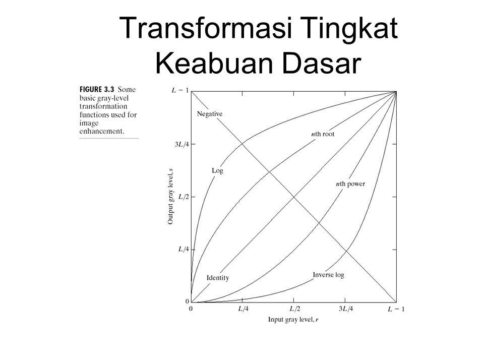 Transformasi Tingkat Keabuan Dasar