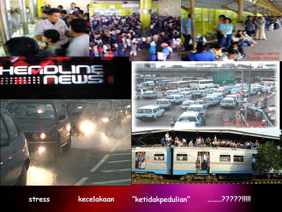 """Stasiun Gambir (Sumber: Kompas) Terminal Kampung Melayu (Sumber: BPLHD) stresskecelakaan """"ketidakpedulian"""" ………?????!!!!!"""