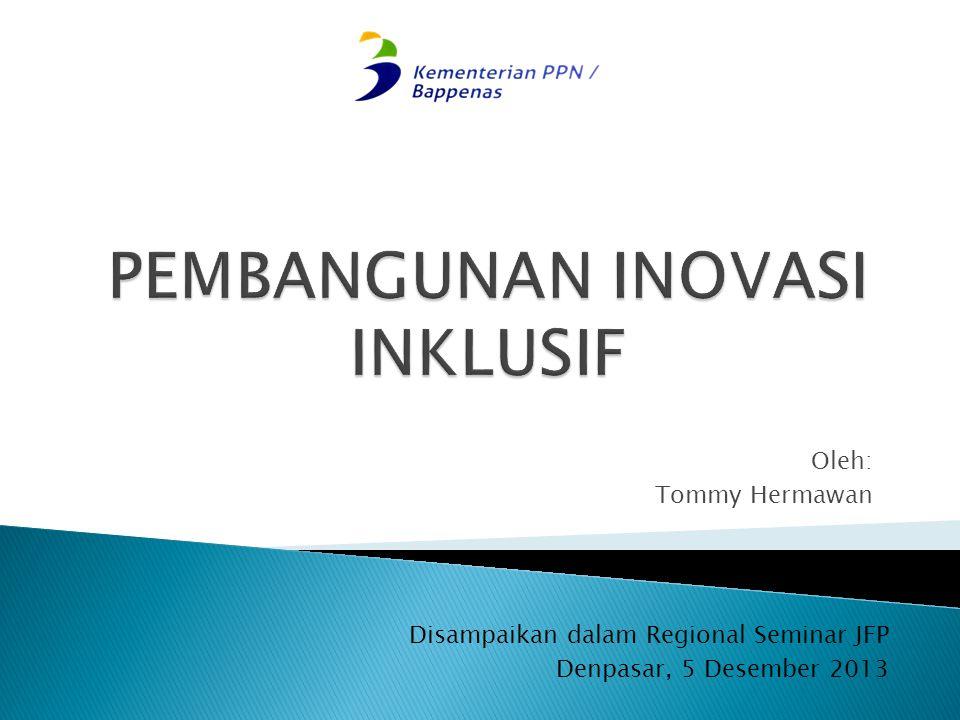 Oleh: Tommy Hermawan Disampaikan dalam Regional Seminar JFP Denpasar, 5 Desember 2013