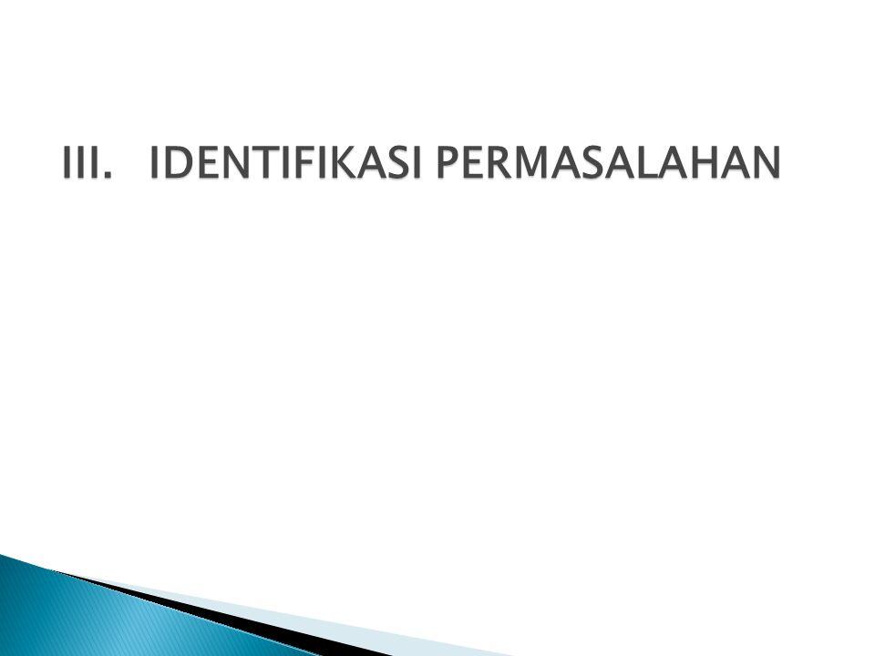 III.IDENTIFIKASI PERMASALAHAN