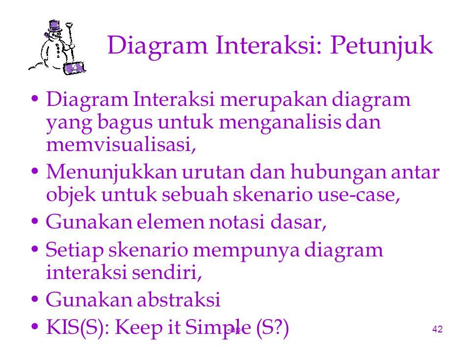 -ap-42 Diagram Interaksi: Petunjuk Diagram Interaksi merupakan diagram yang bagus untuk menganalisis dan memvisualisasi, Menunjukkan urutan dan hubung