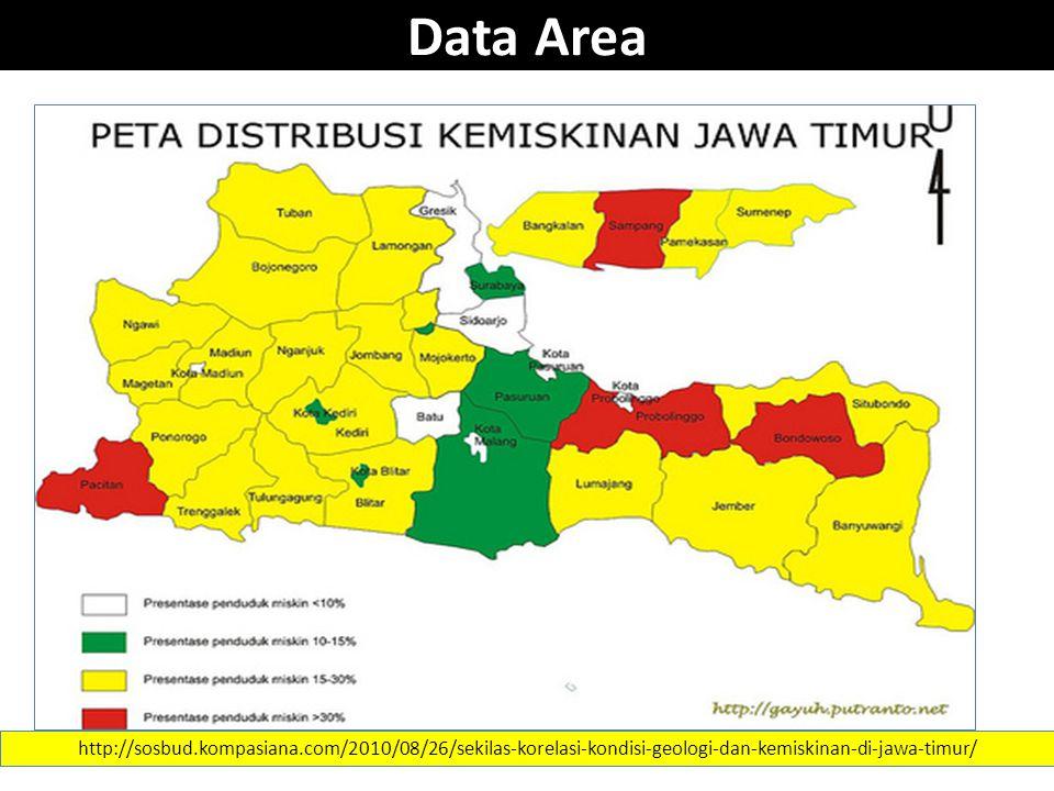 Data Area http://sosbud.kompasiana.com/2010/08/26/sekilas-korelasi-kondisi-geologi-dan-kemiskinan-di-jawa-timur/