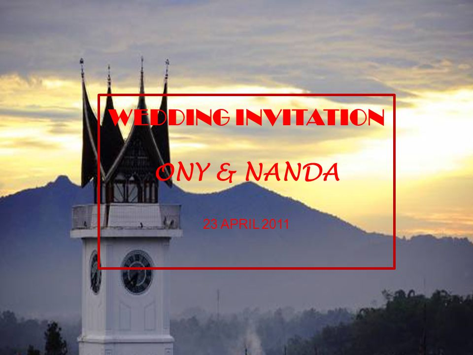WEDDING INVITATION ONY & NANDA 23 APRIL 2011