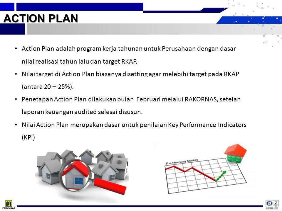 ACTION PLAN Action Plan adalah program kerja tahunan untuk Perusahaan dengan dasar nilai realisasi tahun lalu dan target RKAP. Nilai target di Action