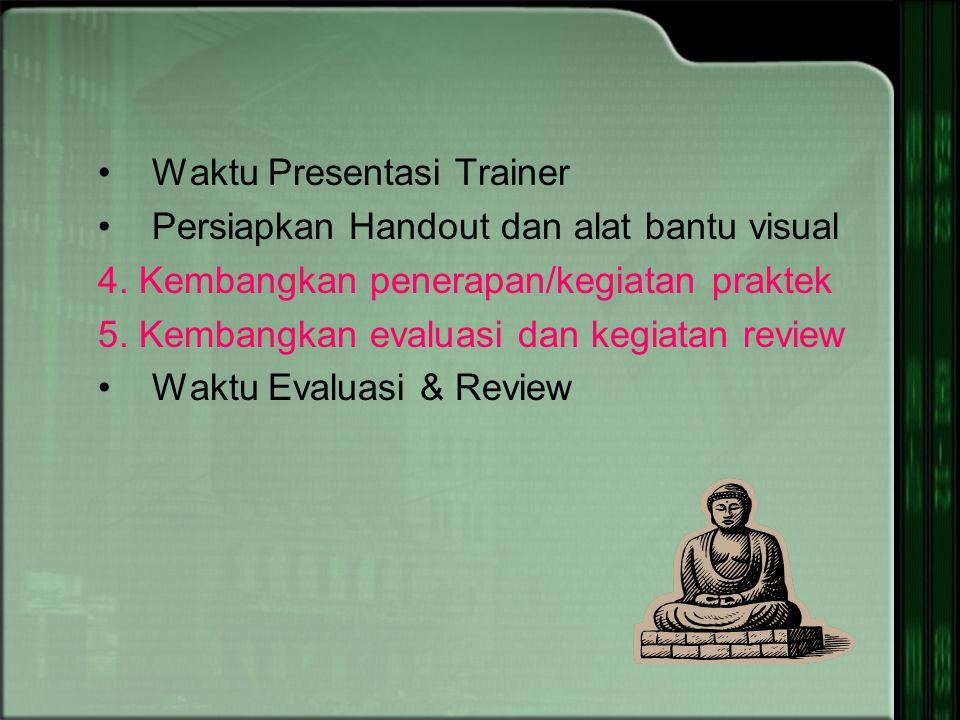 Alat Bantu Visual Apa manfaat bagi pegawai Pertanyaan Untuk Mengetahui pengetahuan/pengalaman yang sudah dimiliki pegawai berkenaan dengan topik terse