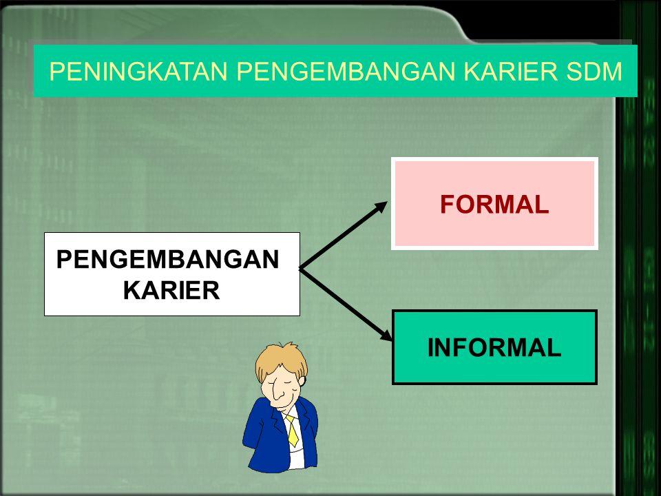 PENGEMBANGAN KARIER INFORMAL FORMAL PENINGKATAN PENGEMBANGAN KARIER SDM