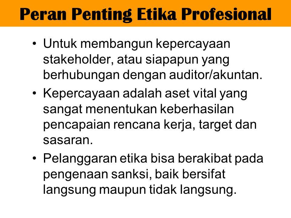 1.Prinsip Integritas 2.Prinsip Objektivitas 3.Prinsip Kompetensi serta Sikap Kecermatan dan Kehati-hatian Profesional 4.Prinsip Kerahasiaan 5.Prinsip Prilaku Profesional Prinsip Dasar Etika Profesi