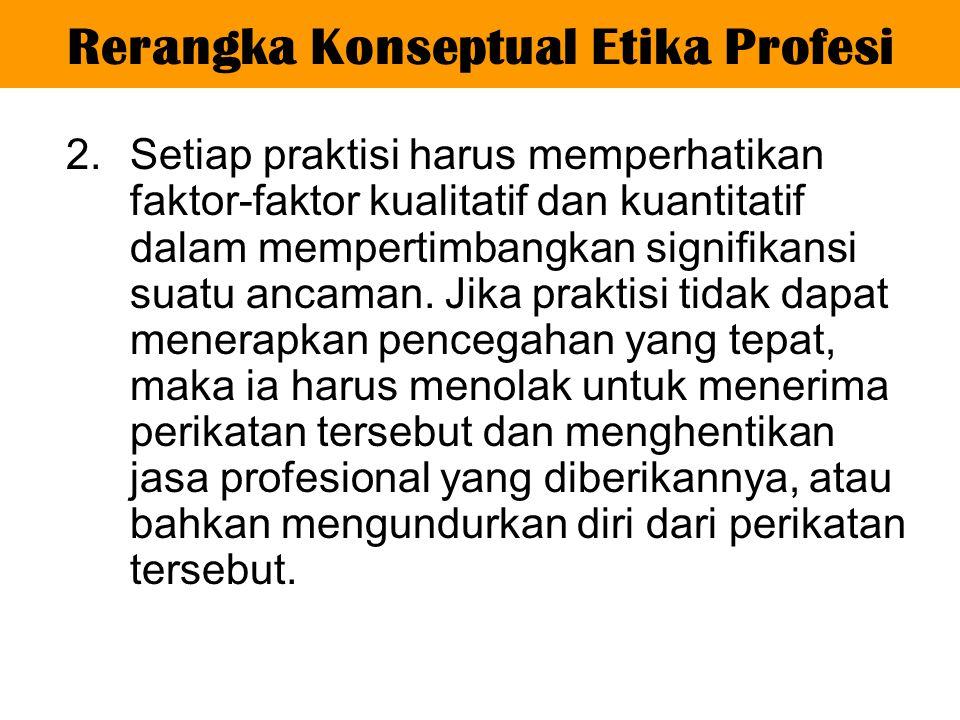 3.Praktisi mungkin saja melanggar suatu ketentuan dalam Kode Etik ini secara tidak sengaja.