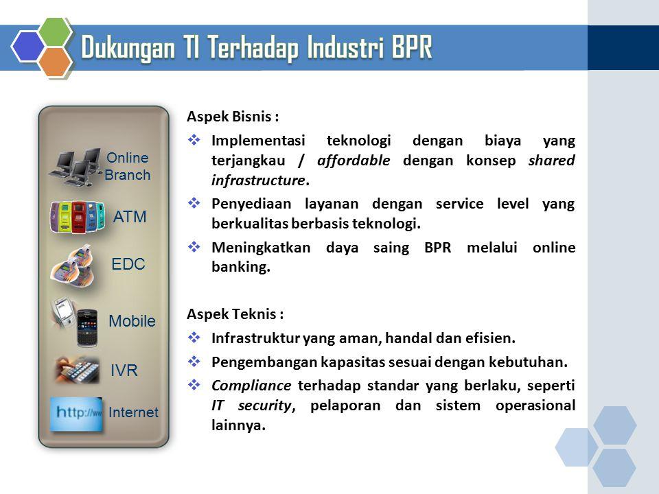 Aspek Bisnis :  Implementasi teknologi dengan biaya yang terjangkau / affordable dengan konsep shared infrastructure.  Penyediaan layanan dengan ser