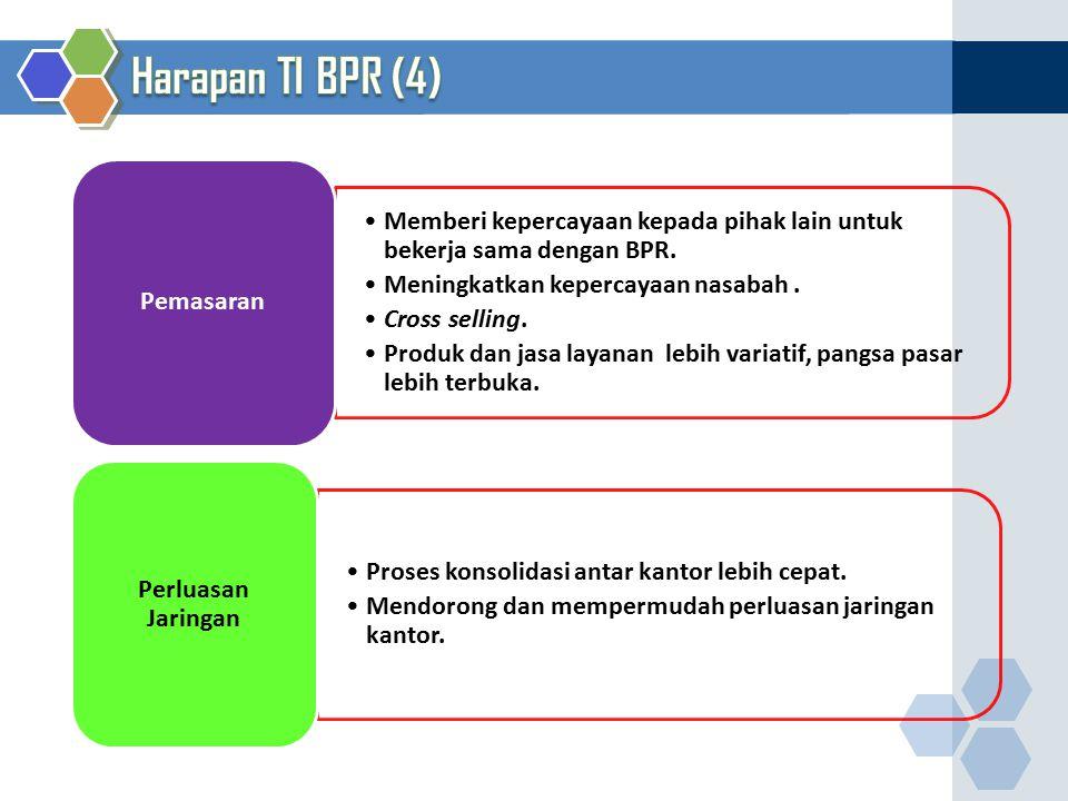Memberi kepercayaan kepada pihak lain untuk bekerja sama dengan BPR. Meningkatkan kepercayaan nasabah. Cross selling. Produk dan jasa layanan lebih va
