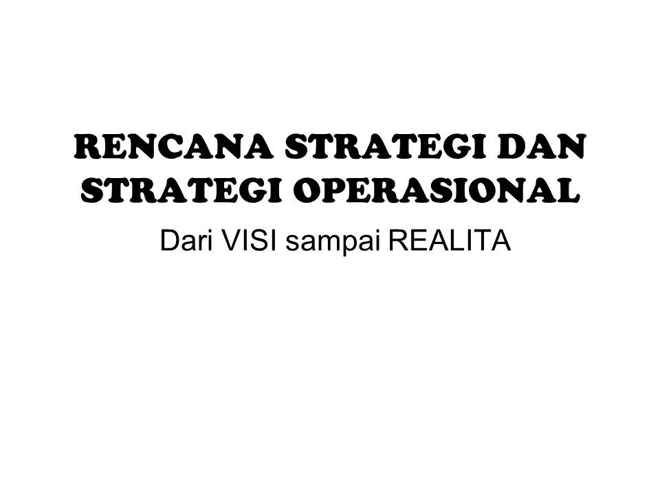 RENCANA STRATEGI DAN STRATEGI OPERASIONAL Dari VISI sampai REALITA