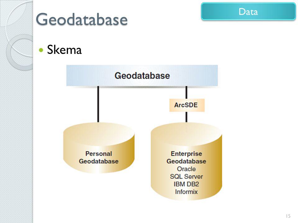 Geodatabase Skema 15 Data