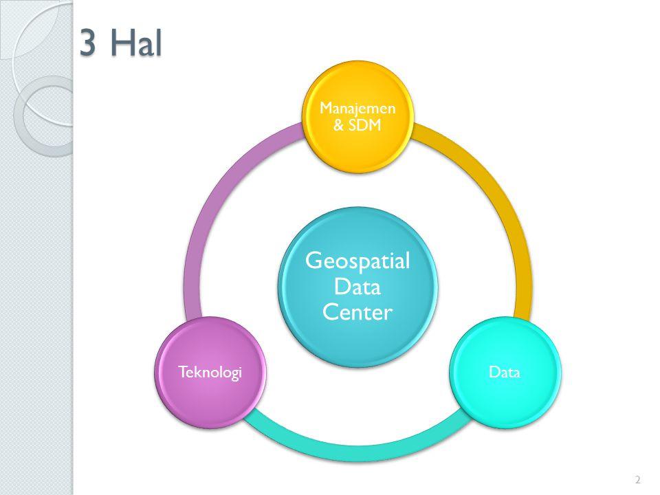 3 Hal Geospatial Data Center Manajemen & SDM DataTeknologi 2