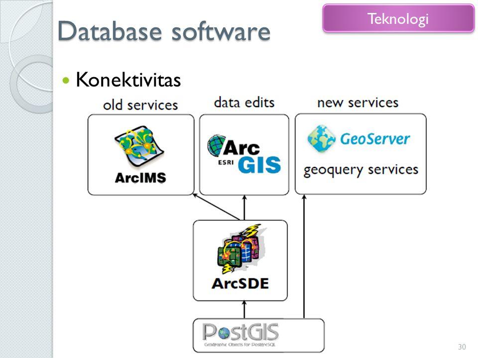 Database software Konektivitas 30 Teknologi