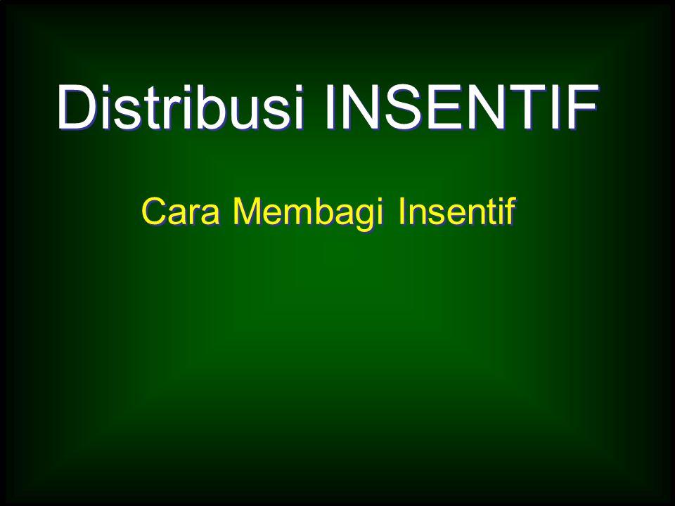 Distribusi INSENTIF Cara Membagi Insentif