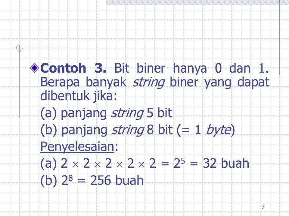 7 Contoh 3.Bit biner hanya 0 dan 1.