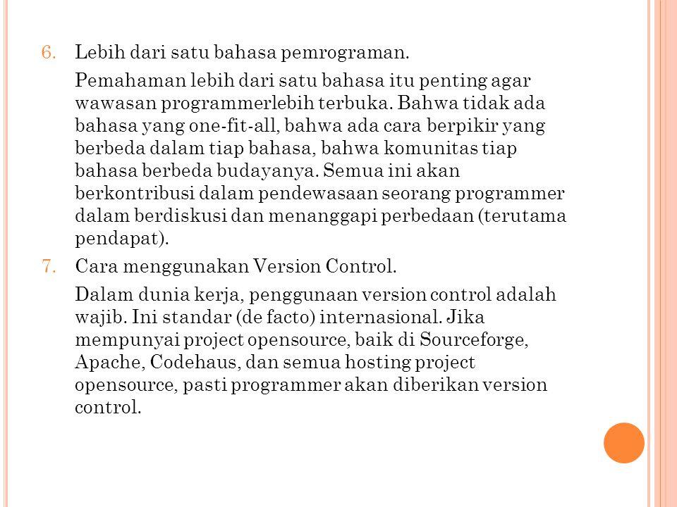 2.Memahami konsep dasar jaringan. Sebuah aplikasi tidak dapat berjalan sendiri.
