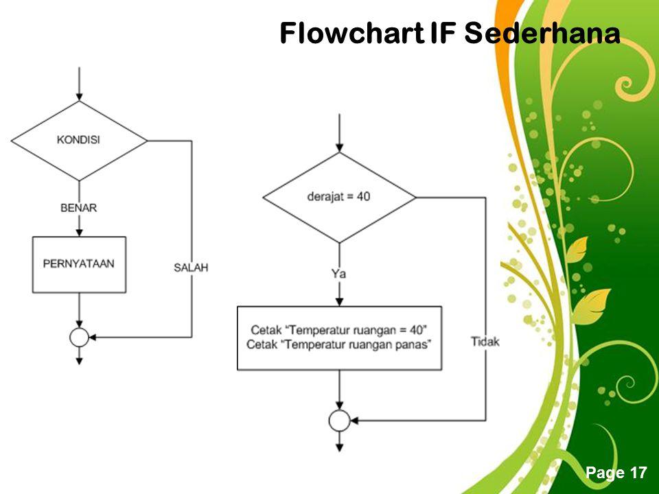 Free Powerpoint Templates Page 17 Flowchart IF Sederhana