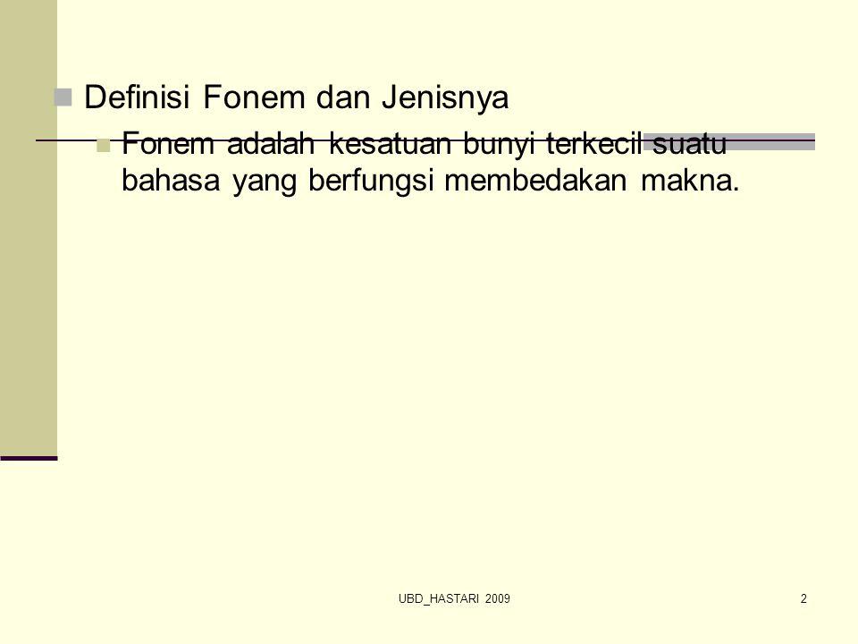 UBD_HASTARI 20093 DASAR-DASAR ANALISIS FONEM Dasar-dasar analisis fonem adalah poko- pokok pikiran yang dipakai sebagai pegangan untuk menalisis fonem-fonem suatu bahasa.