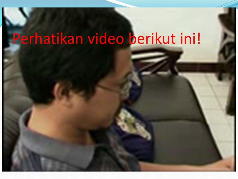 Perhatikan video berikut ini!