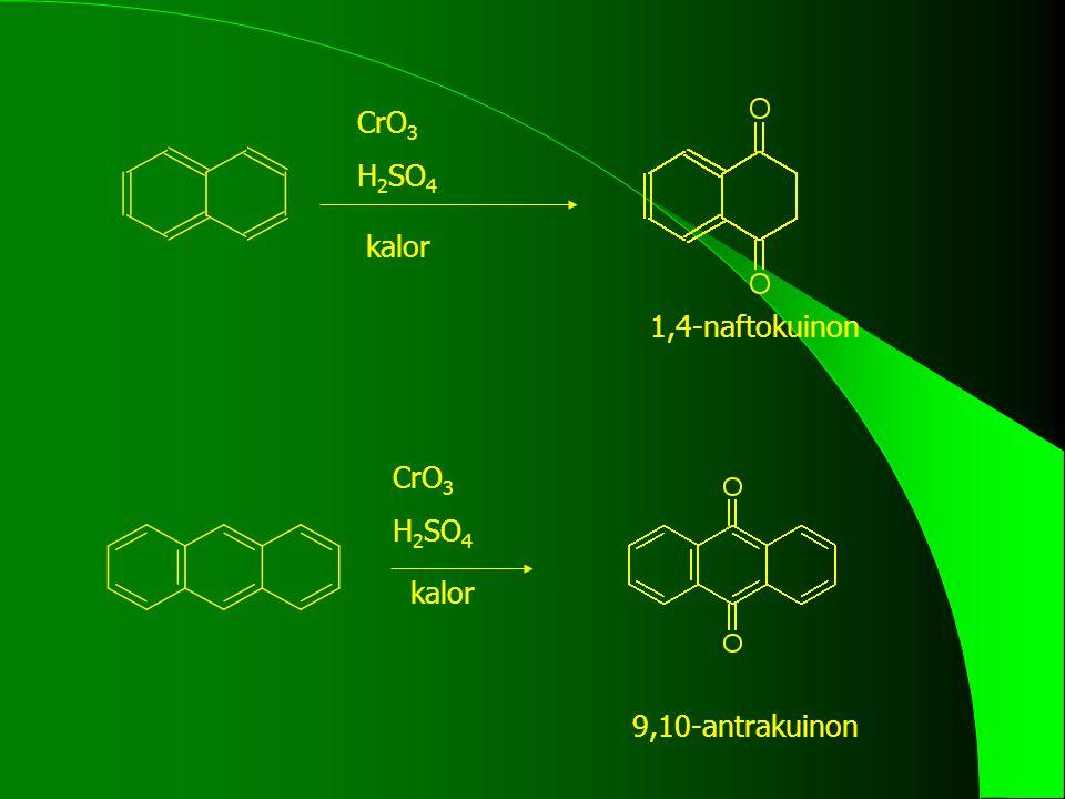 CrO 3 H 2 SO 4 kalor 1,4-naftokuinon 9,10-antrakuinon CrO 3 H 2 SO 4 kalor